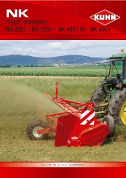Kuhn NK 2801 NK 3201 NK 4001 M NK 4801 Field Shredders Agricultural Catalog page 1