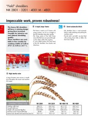 Kuhn NK 2801 NK 3201 NK 4001 M NK 4801 Field Shredders Agricultural Catalog page 2
