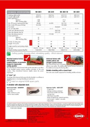 Kuhn NK 2801 NK 3201 NK 4001 M NK 4801 Field Shredders Agricultural Catalog page 4