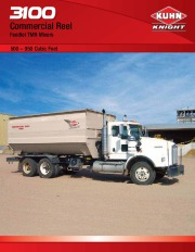 Kuhn Knight 3100 Commercial Reel TMR Mixers 500-950 Cubic Feet Agricultural Catalog page 1