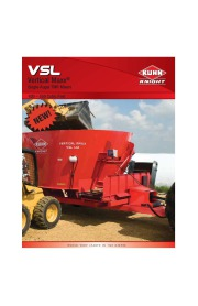 Kuhn Knight VSL W NE Vertical Maxx Single Auger TMR Mixers 420 550 Cubic Feet Agricultural Catalog page 1