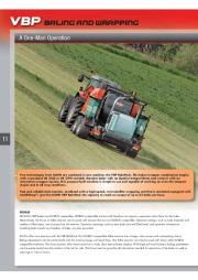 Kuhn VB VBP Variable Chamber Round Balers 2160 2190 Agricultural Catalog page 12