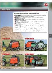 Kuhn VB VBP Variable Chamber Round Balers 2160 2190 Agricultural Catalog page 5