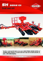 Kuhn SH S E RII E 110 1 0 Small Seed Drill Agricultural Catalog page 1