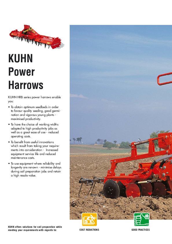 kuhn hrb power harrows hrb 102 d hrb 103 agricultural machinery catalog rh filemanual com