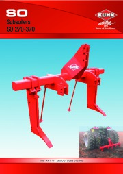 Kuhn SO Subsoilers SO 270 370 Agricultural Catalog page 1