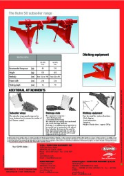 Kuhn SO Subsoilers SO 270 370 Agricultural Catalog page 4