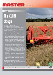 Kuhn MASTER 102 Series Reversible Ploughs 2 Agricultural Catalog page 2