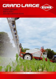 Kuhn GRAND LARGE Trailed Sprayers 4000 5000 L Agricultural Catalog page 1