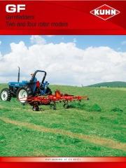 Kuhn Gyrotedders GF 5202 GF 7802 GF 13002 GF 17002 Agricultural Catalog page 1
