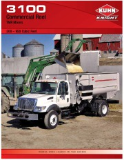 Kuhn Knight 3100 Commercial Reel Feedlot TMR Mixers 500-950 Cubic Feet Agricultural Catalog page 1