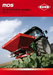 Kuhn MDS MDS 10 24 Agricultural Catalog page 1