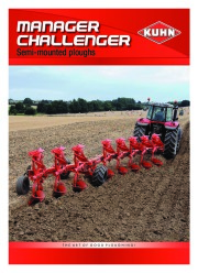 Kuhn MANAGER CHALLENGER Semi Mounted Ploughs Agricultural Catalog page 1