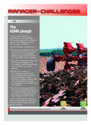 Kuhn MANAGER CHALLENGER Semi Mounted Ploughs Agricultural Catalog page 2