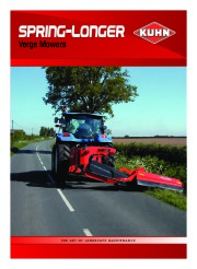 Kuhn SPRING LONGER Verge Mowers Agricultural Catalog page 1