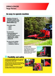 Kuhn SPRING LONGER Verge Mowers Agricultural Catalog page 4