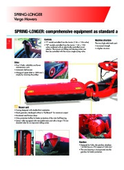 Kuhn SPRING LONGER Verge Mowers Agricultural Catalog page 6