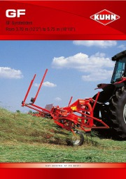 Kuhn GF GF Gyrotedders From 3 70 M 12 2 5 75 Agricultural Catalog page 1