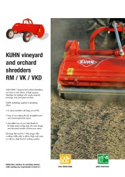 Kuhn RM VK VKD Vineyardchard Shredders Agricultural Catalog page 2