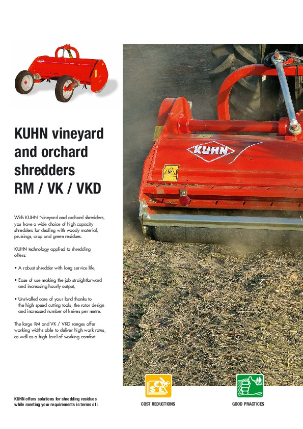 Kuhn RM VK VKD Vineyardchard Shredders Agricultural Catalog