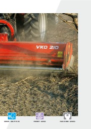 Kuhn RM VK VKD Vineyardchard Shredders Agricultural Catalog page 3