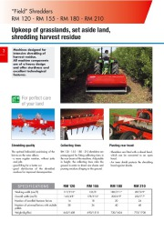Kuhn RM VK VKD Vineyardchard Shredders Agricultural Catalog page 4